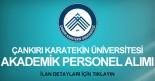 akademik personel alımı ilanı