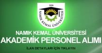 namık kemal üniversitesi, personel alımı