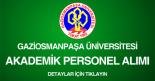 gaziosmanpaşa üniversitesi, akademik personel alımı