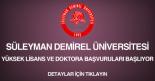 süleyman demirel üniversitesi yüksek lisans ve doktora başvurusu