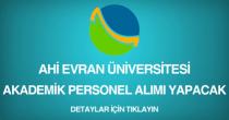ahi evran üniversitesi, akademik personel alımı