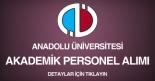 anadolu üniversitesi, akademik personel alımı