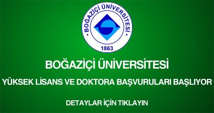 boğaziçi üniversitesi, yüksek lisans ve doktora başvurusu