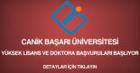 canik başarı üniversitesi, yüksek lisans ve doktora ilanı