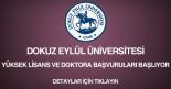 dokuz eylül üniversitesi, yüksek lisans ve doktora başvurusu