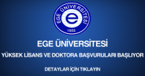 ege üniversitesi, yüksek lisans ve doktora başvurusu