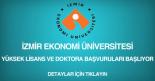 izmir ekonomi üniversitesi, yüksek lisans ve doktora başvurusu