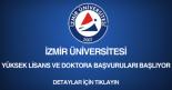 izmir üniversitesi, yüksek lisans ve doktora başvurusu