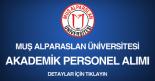 muş alparaslan üniversitesi, akademik personel ilanı