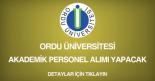 ordu üniversitesi, akademik personel alımı