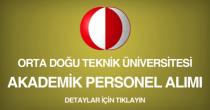 orta doğu teknik üniversitesi, akademik personel alım ilanı