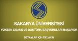 sakarya üniversitesi, yüksek lisans ve doktora başvurusu