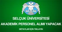 selçuk üniversitesi, akademik personel alım ilanı