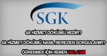 SSK (4a) hizmet dökümü sorgulama ekranı