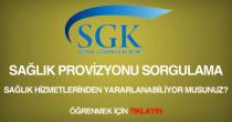 SGK GSS provizyon sorgulama alma