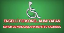 engelli özürlü personel eleman işçi alımı