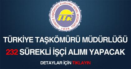 türkiye taşkömürü müdürlüğü sürekli işçi eleman alımı