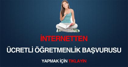 internetten ücretli öğretmenlik başvurusu yapmak