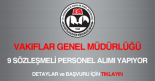 vakıflar genel müdürlüğü sözleşmeli personel alımı