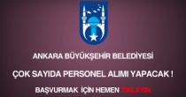 Ankara büyükşehir belediyesi memur, personel, işçi alımı