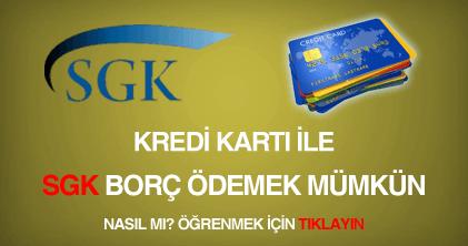 sgk kredi kartı ile borç ödeme
