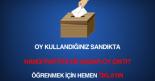 CHP e sandık sorgulama aracı ile oy kullandığım sandıkta hangi parti kaç oy aldı öğrenme aracı.