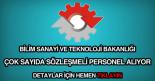 bilim sanayi ve teknoloji bakanlığı sözleşmeli personel alımı