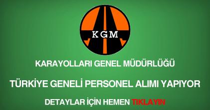 Karayolları Genel Müdürlüğü memur alımı ve personel alımı ilanı