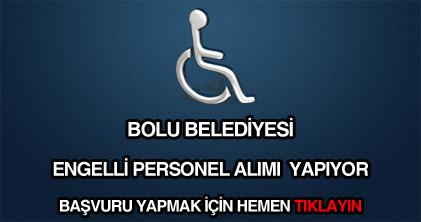 Bolu Belediyesi engelli, özürlü işçi alımı