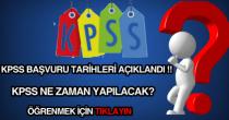 KPSS başvuru tarihi ile sınav tarihi hakkında haber.