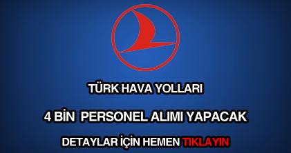 Türk Hava Yolları (THY) personel alımı ilanı