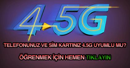 Türkcell, Vodafone, Avea ve Türk Telekom 4.5G sorgulama