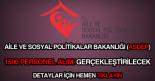 Aile ve Sosyal Politikalar Bakanlığı ASDEP personel alımı