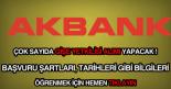 Akbank gişe yetkilisi, gişe görevlisi ve memuru alımı ilanları.