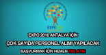 Expo 2016 antalya iş ilanları