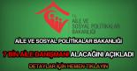 Aile ve Sosyal Politikalar Bakanlığı 7 bin aile danışmanı alımı
