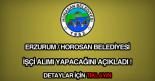 horosan belediyesi işçi alımı ilanı