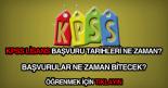 KPSS lisans başvuru tarihleri