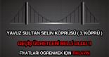 Yavuz Sultan Selim Köprüsü geçiş ücretleri