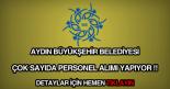 Aydın Büyükşehir Belediyesi eleman, işçi, memur ve personel alımı