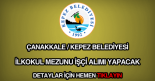 Çanakkale Kepez Belediyesi işçi alımı ilanı