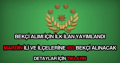 Mardin 653 bekçi alımı ilanı detayları