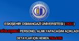 Eskişehir Osmangazi Üniversitesi sözleşmeli personel alımı haberi.