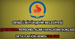 Denizli Büyükşehir Belediyesi personel alımı ilanı