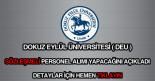 Dokuz Eylül Üniversitesi sözleşmeli personel alımı