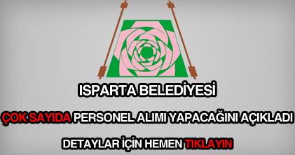 Isparta Belediyesi personel alımı