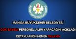 Manisa Büyükşehir Belediyesi iş ilanları