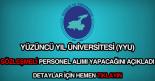 Yüzüncü Yıl Üniversitesi personel alımı ilanı