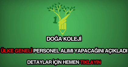 Doga Koleji Personel Alimi Ve Guncel Is Ilanlari 2019