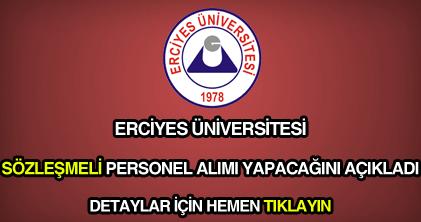 Erciyes Üniversitesi personel alımı